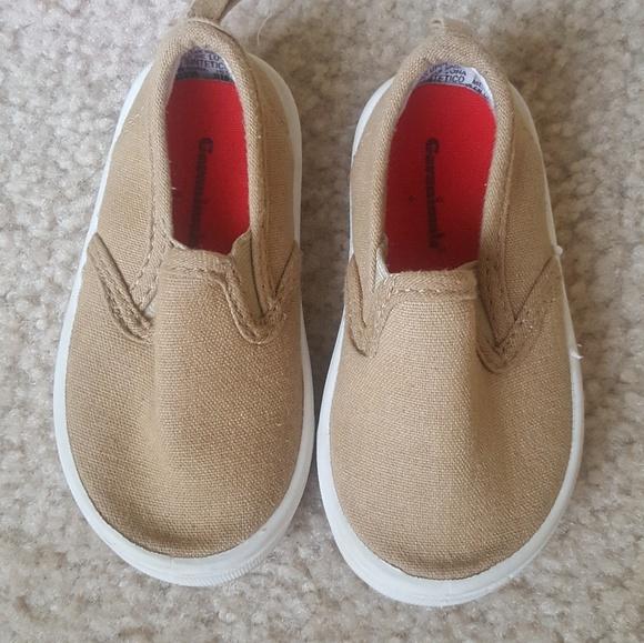 NEW Baby Toddler Boys GaranimalsTimmy Black Canvas Slip On Sneakers Shoes Size 4